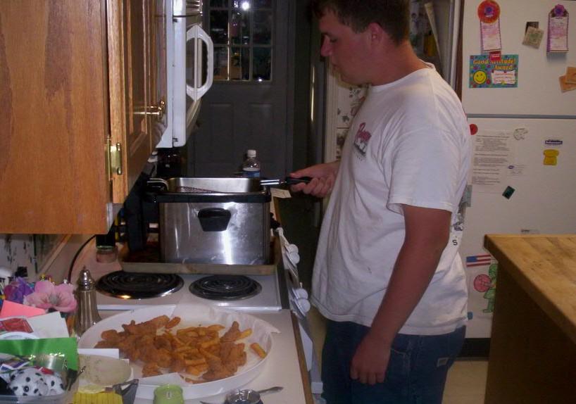 bigboy cooking & a fine job he did